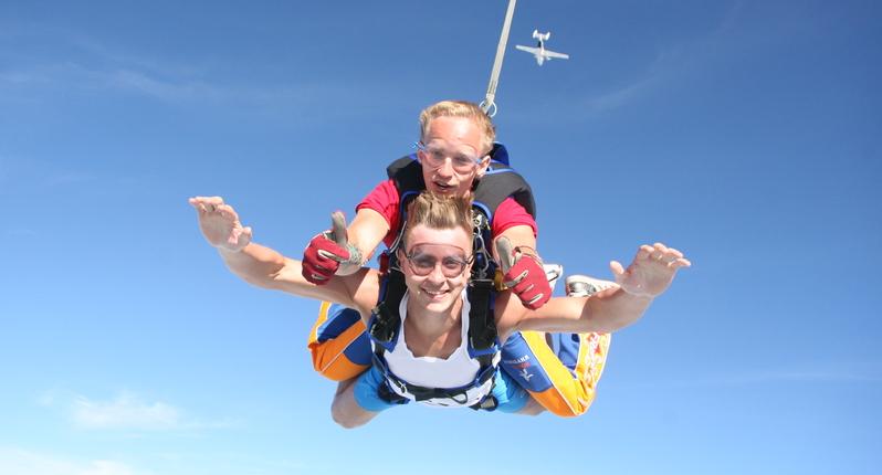 Насколько это похоже на прыжок с парашютом?