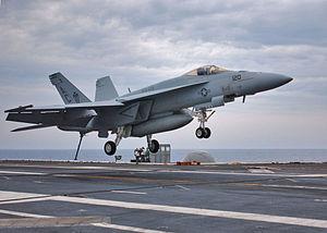 Полеты на Super Hornet